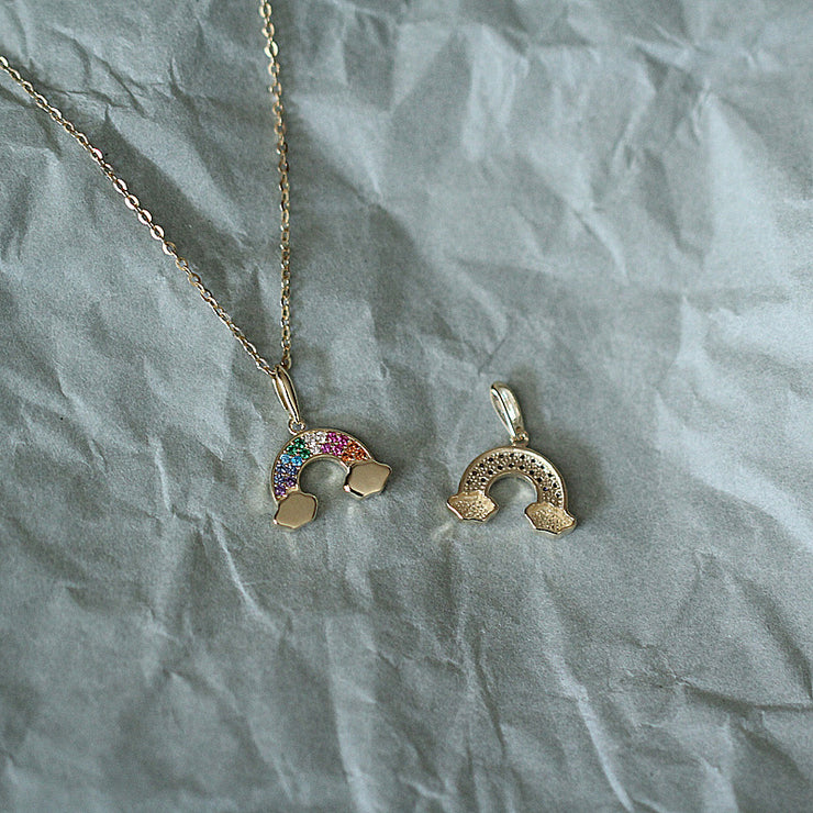 RAINBOW NECKLACE (9K GOLD)