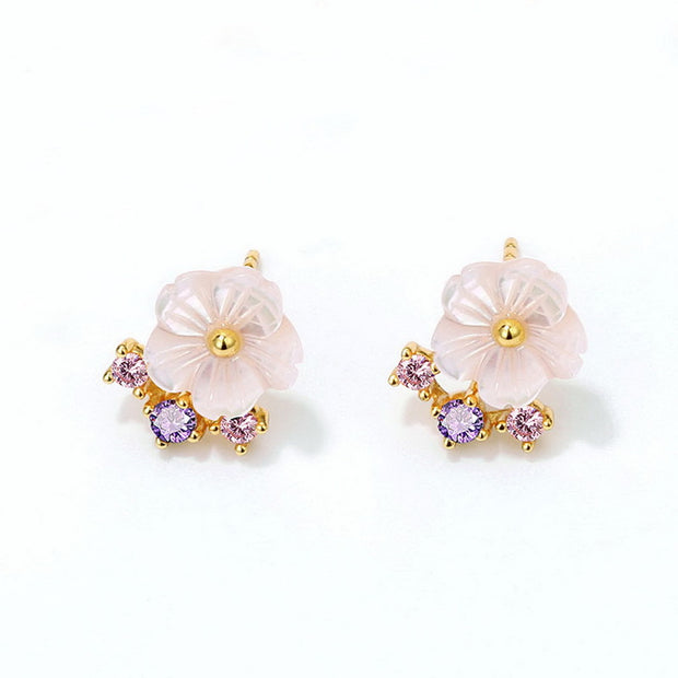 HIBISCUS EAR STUDS