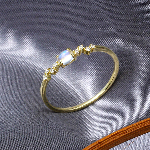 DAINTY MOONSTONE RING 2.0