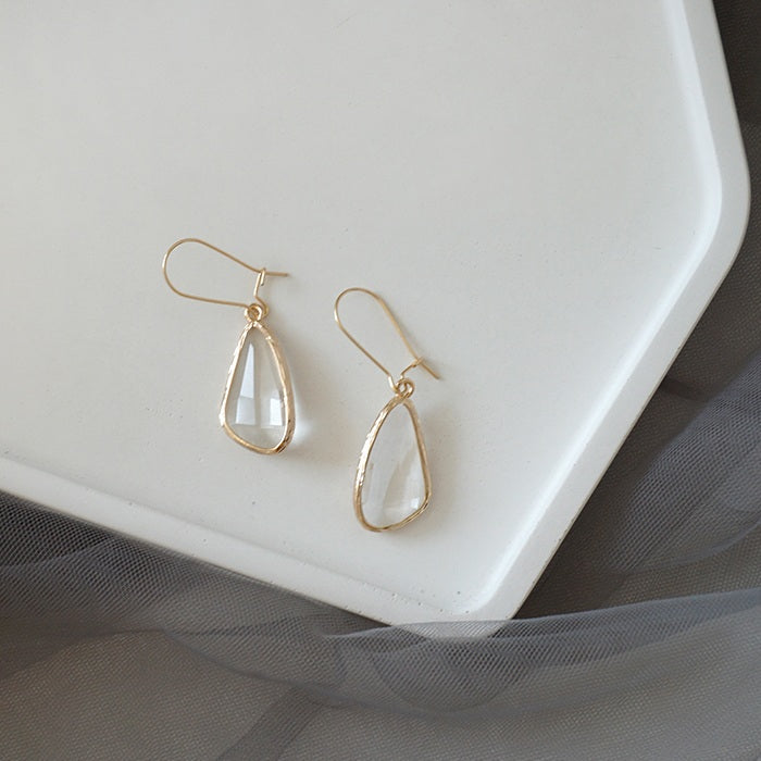 RISA WHITE QUARTZ EARRINGS