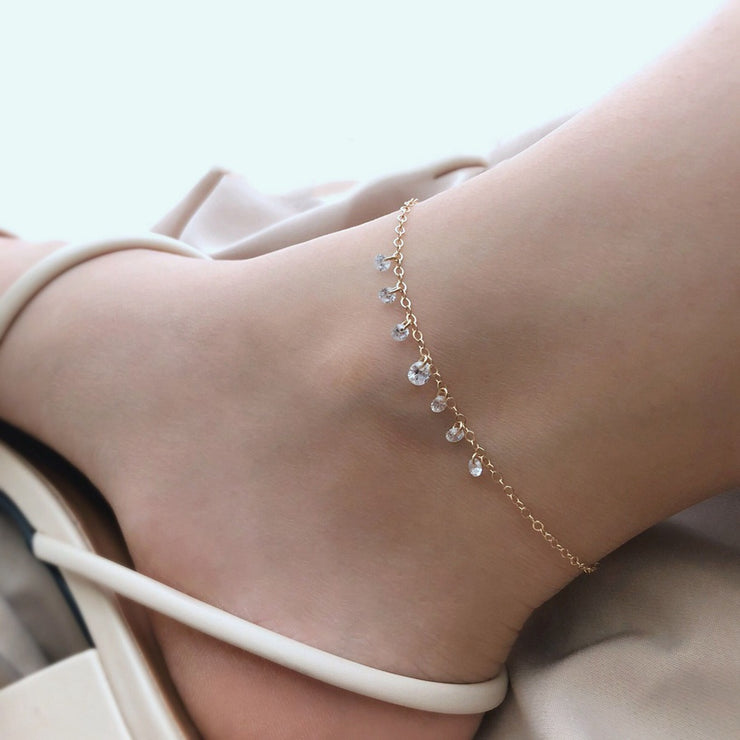 CLASSIC ZIRCONIA CRYSTALS ANKLET