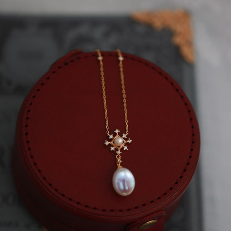 AKA-YUKI BAROQUE PEARL NECKLACE