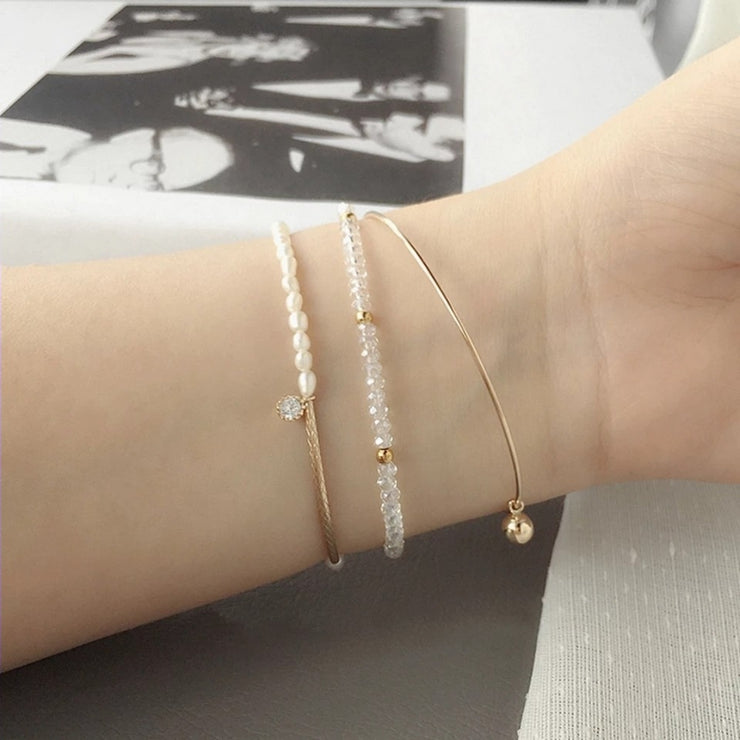 RICE-SHAPED PEARL BRACELET