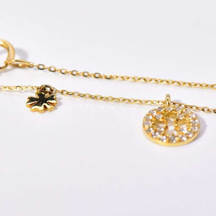 FOUR LEAF CLOVER NECKLACE (14K GOLD)