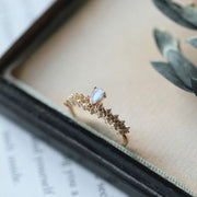 MOONSTONE DROPLET RING 2.0