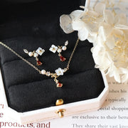 BEAUTY AND THE BEAST NECKLACE & EARRINGS SET