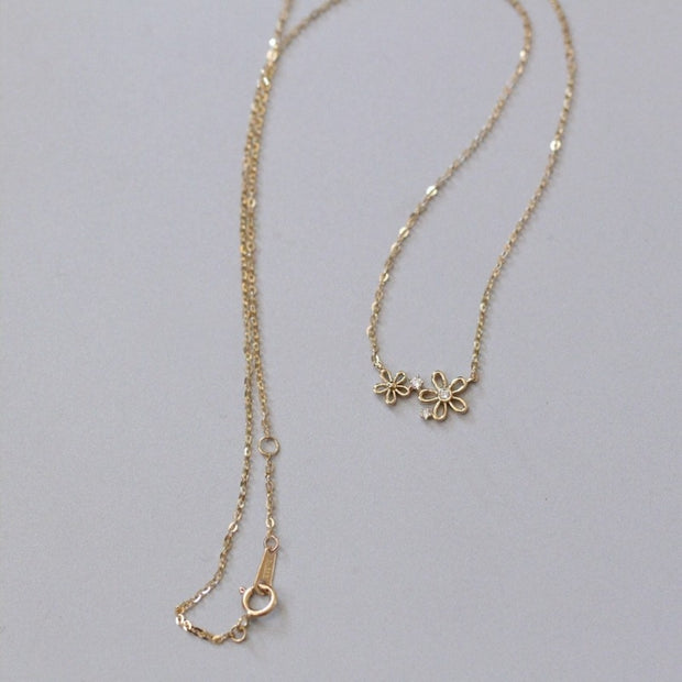 DAISY FLOWER NECKLACE (14K GOLD)