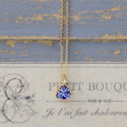 TANZANITE NECKLACE (14K GOLD)