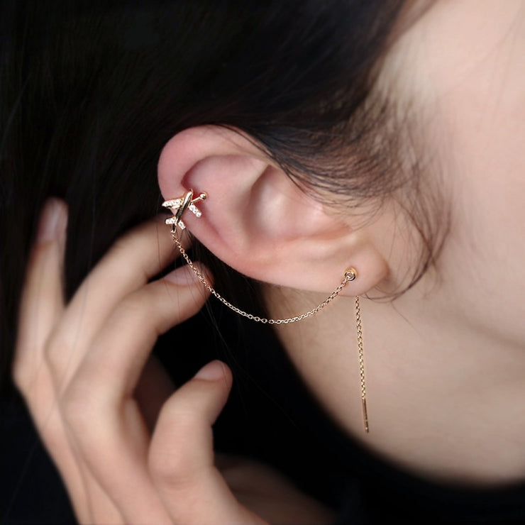 TRAVEL THE WORLD EAR CUFF THREADER