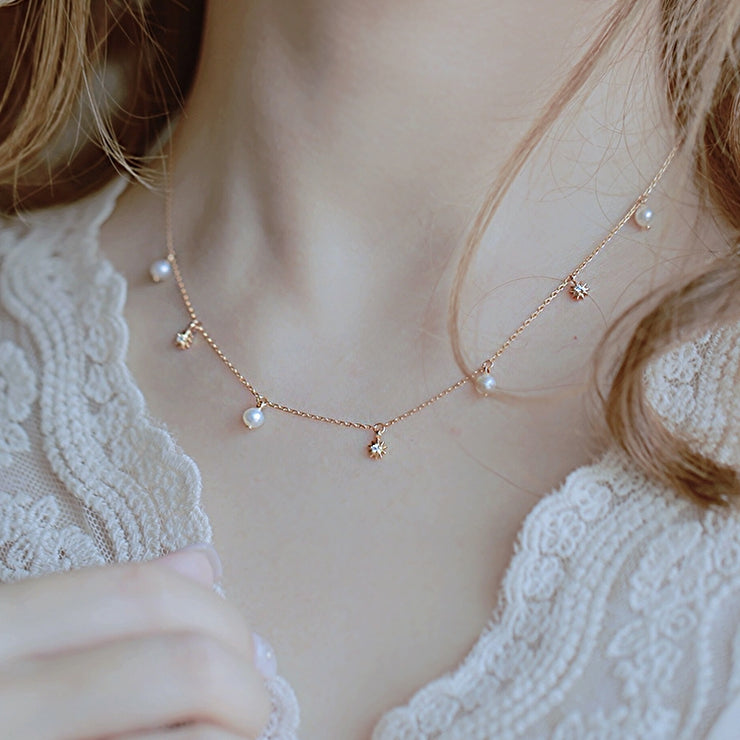 PEARLY SUNSHINE CHOKER NECKLACE