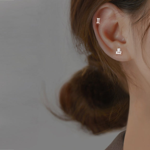 BUILDING BLOCK OF LIFE EAR STUDS