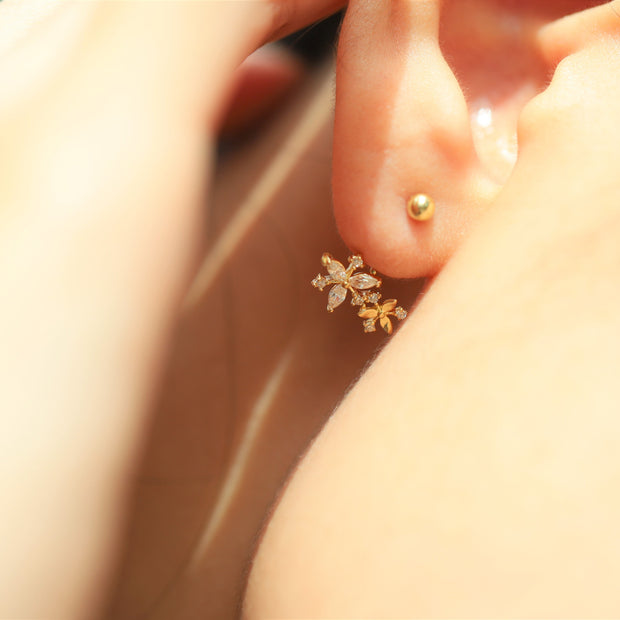 DAISY FLOWER EAR JACKET (14K GOLD)