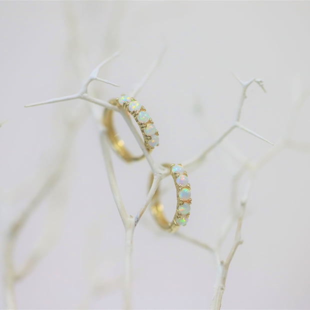 CLASSIC OPAL EARRINGS (10K GOLD)