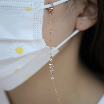SAKURA FLOWER MASK & SUNGLASSES CHAIN