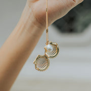 SEASHELL LOCKET NECKLACE