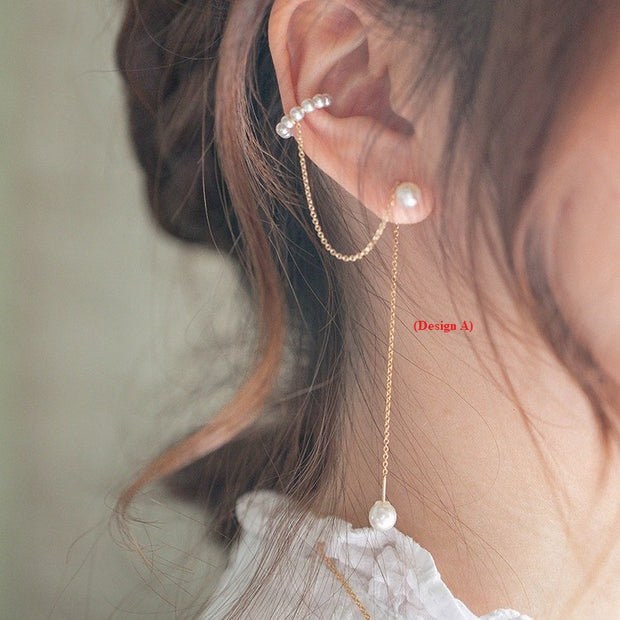 DAINTY PEARLS EAR THREADER
