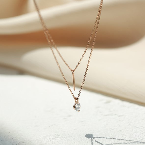 AIME DOUBLE LAYER NECKLACE