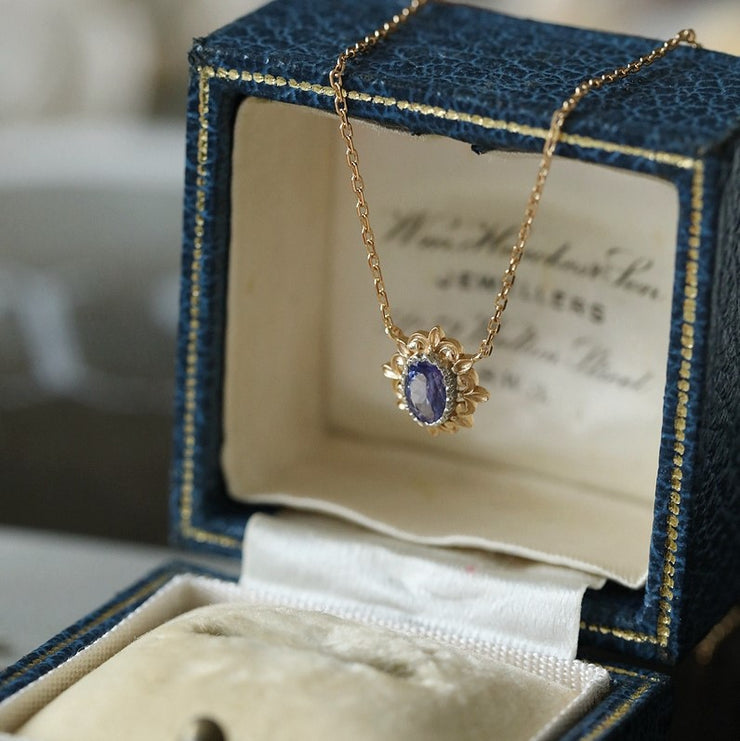 VINTAGE TANZANITE NECKLACE