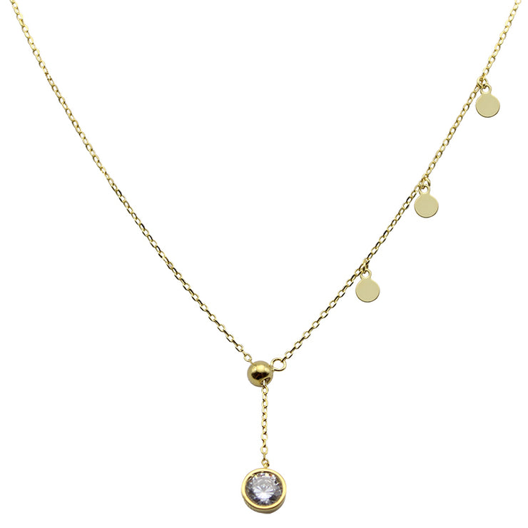 ADJ. ROUND DISC NECKLACE