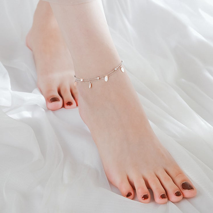 CIRCULAR DOTS SPACER ANKLET