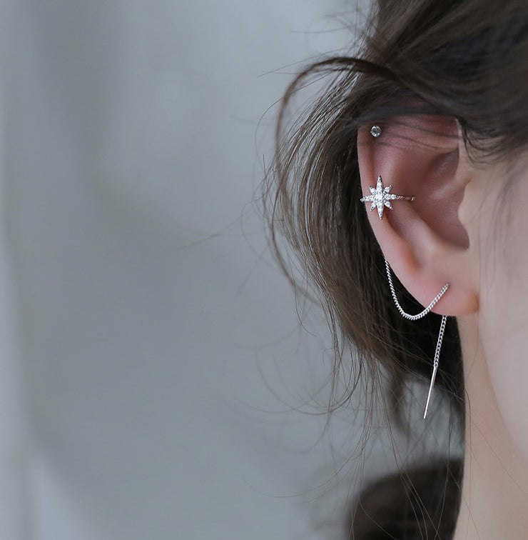 NORTHERN STAR EAR CUFF THREADER