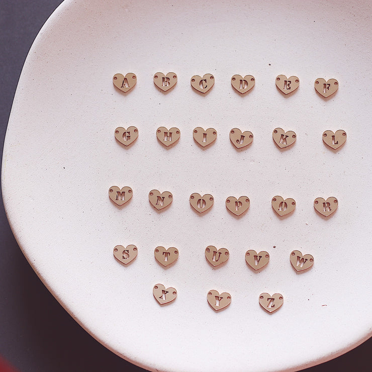 HEART-SHAPED ALPHABETS NECKLACE