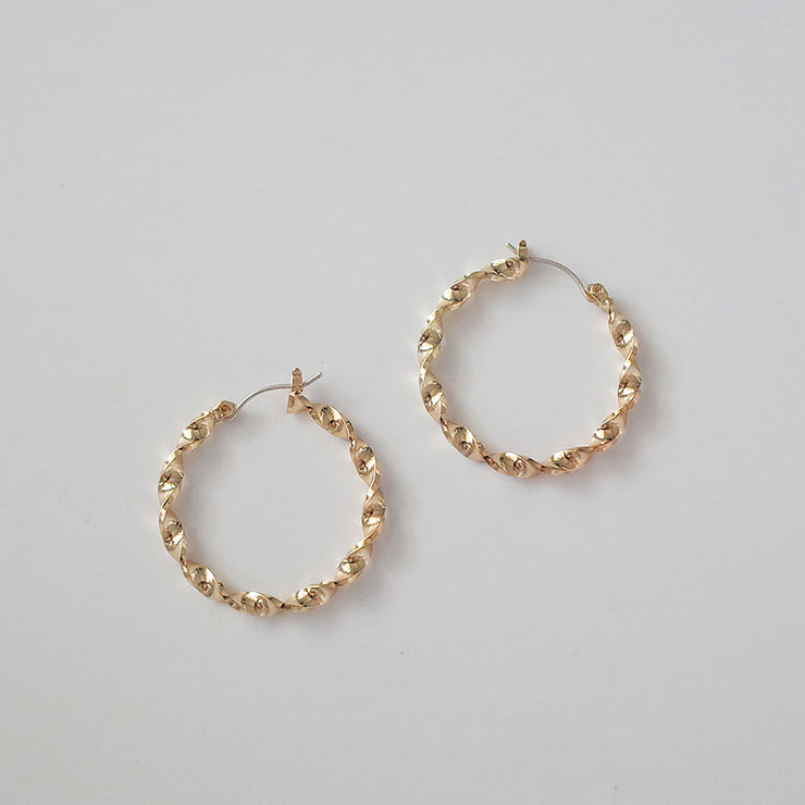 PAVE TWIST EARRINGS