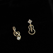 MUSICAL NOTES EAR STUDS (14K GOLD)