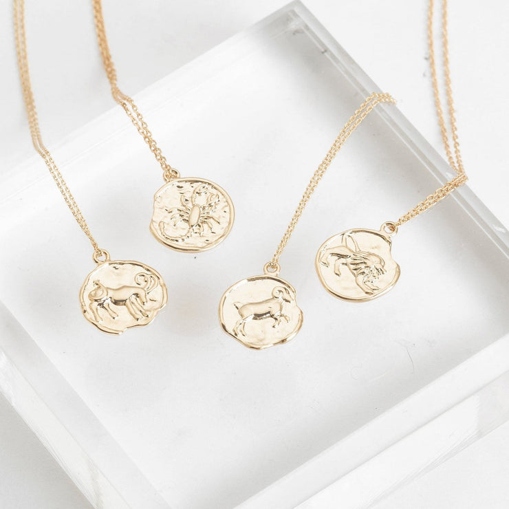 CLASSIC WAX SEAL ZODIAC NECKLACE
