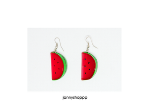 Small Watermelon Slice Earrings