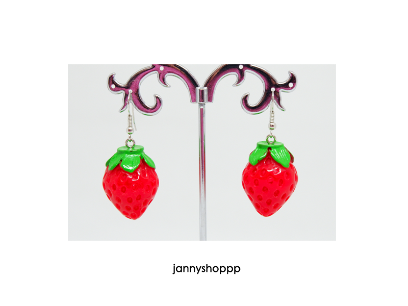 Small Strawberry Earrings