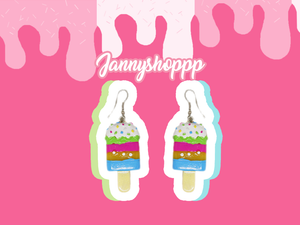 Happy Sweet Ice Cream Earrings
