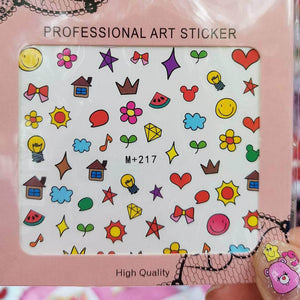 Happy Life Nail Sticker