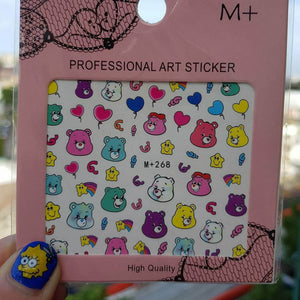 Care Bear Nail Sticker