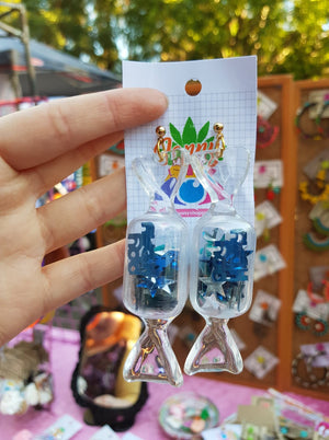 Toffy Earrings - Blue