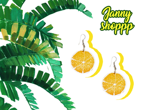 Small Lemon Earrings