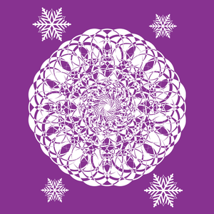 Christmas Mandala with Snowflakes