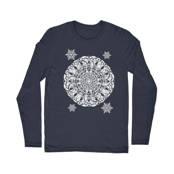 Christmas Mandala with Snowflakes Classic Long Sleeve T-Shirt