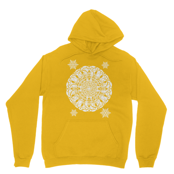 Christmas Mandala with Snowflakes Classic Adult Hoodie