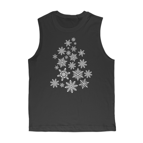 Snowflakes Classic Adult Muscle Top