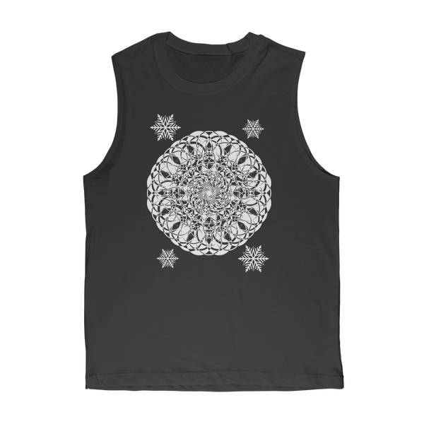 Christmas Mandala with Snowflakes Classic Adult Muscle Top