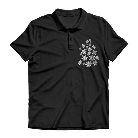 Snowflakes Premium Adult Polo Shirt