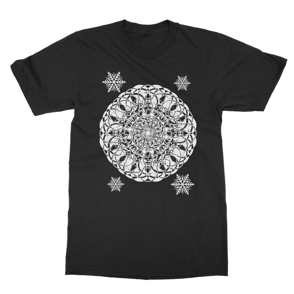 Christmas Mandala with Snowflakes Classic Adult T-Shirt