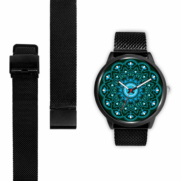 Ocean Blue Saharsrara Mandala Watch