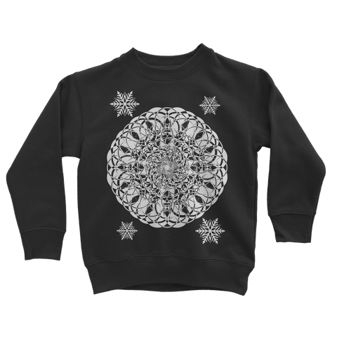 Christmas Mandala with Snowflakes Classic Kids Sweatshirt