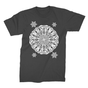 Christmas Mandala with Snowflakes Premium Jersey Men's T-Shirt