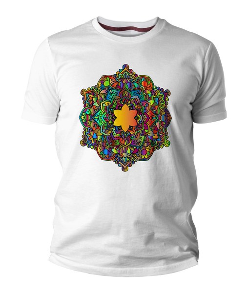 Cartoon Mandala Short-Sleeve Unisex T-Shirt