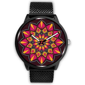Red-Yellow-Green Simplicity Mandala Watch