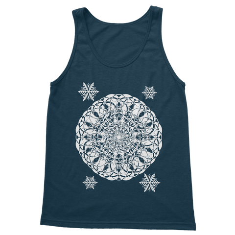 Christmas Mandala with Snowflakes Classic Adult Vest Top