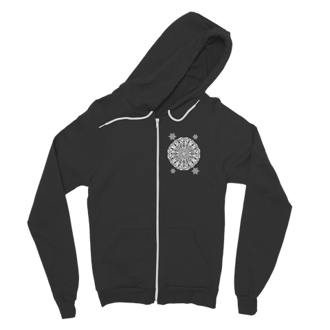 Christmas Mandala with Snowflakes Classic Adult Zip Hoodie
